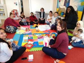 Talk to Mother & Baby Group at The Curve Slough Jan 2018
